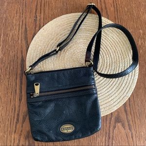 Authentic Fossil Classy Leather CrossBody Bag